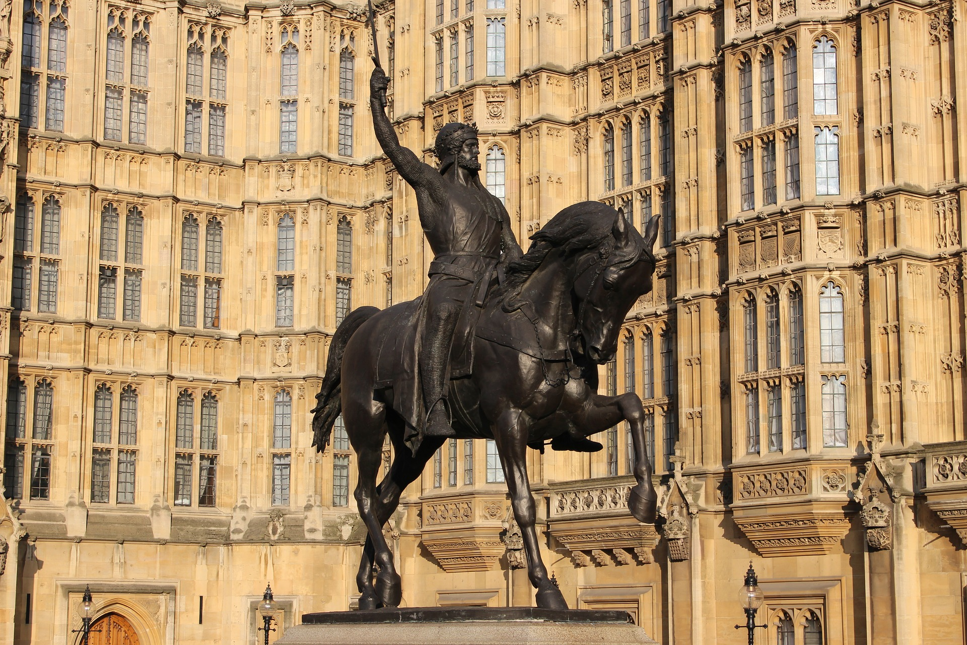 Richard the First outside Parliament Westminster UK